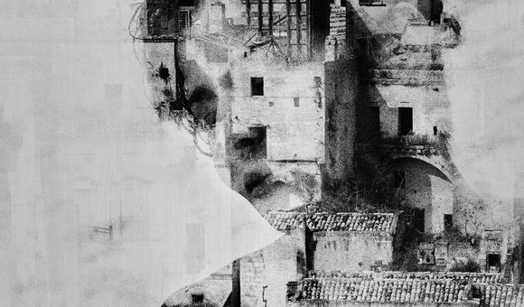 "A trip to Matera with the woman I love. Double exposure with his face and the ""Sassi of Matera"""